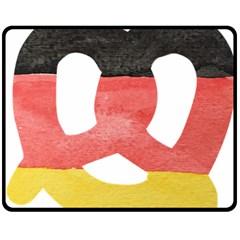 Pretzel in Hand-Painted Water Colors of German Flag Fleece Blanket (Medium)