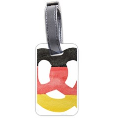 Pretzel in Hand-Painted Water Colors of German Flag Luggage Tags (Two Sides)