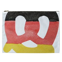 Pretzel in Hand-Painted Water Colors of German Flag Cosmetic Bag (XXL)