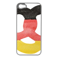 Pretzel in Hand-Painted Water Colors of German Flag Apple iPhone 5 Case (Silver)