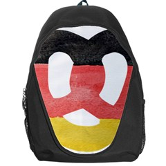 Pretzel in Hand-Painted Water Colors of German Flag Backpack Bag