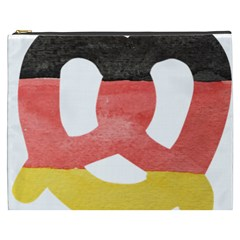 Pretzel in Hand-Painted Water Colors of German Flag Cosmetic Bag (XXXL)