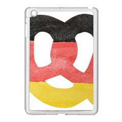 Pretzel in Hand-Painted Water Colors of German Flag Apple iPad Mini Case (White)