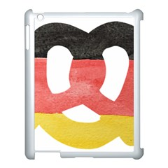 Pretzel in Hand-Painted Water Colors of German Flag Apple iPad 3/4 Case (White)