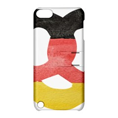Pretzel in Hand-Painted Water Colors of German Flag Apple iPod Touch 5 Hardshell Case with Stand