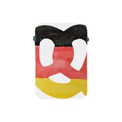 Pretzel in Hand-Painted Water Colors of German Flag Apple iPad Mini Protective Soft Cases