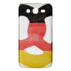 Pretzel in Hand-Painted Water Colors of German Flag Samsung Galaxy Mega 5.8 I9152 Hardshell Case