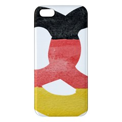 Pretzel in Hand-Painted Water Colors of German Flag iPhone 5S/ SE Premium Hardshell Case
