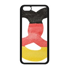 Pretzel in Hand-Painted Water Colors of German Flag Apple iPhone 5C Seamless Case (Black)
