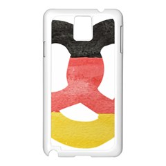 Pretzel in Hand-Painted Water Colors of German Flag Samsung Galaxy Note 3 N9005 Case (White)