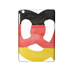 Pretzel in Hand-Painted Water Colors of German Flag iPad Mini 2 Hardshell Cases