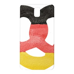 Pretzel in Hand-Painted Water Colors of German Flag Samsung Galaxy Note 3 N9005 Hardshell Back Case