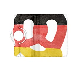 Pretzel in Hand-Painted Water Colors of German Flag Kindle Fire HD (2013) Flip 360 Case