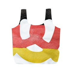 Pretzel in Hand-Painted Water Colors of German Flag Full Print Recycle Bags (M)