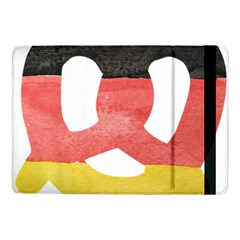 Pretzel in Hand-Painted Water Colors of German Flag Samsung Galaxy Tab Pro 10.1  Flip Case