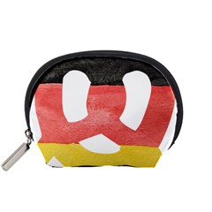 Pretzel in Hand-Painted Water Colors of German Flag Accessory Pouches (Small)