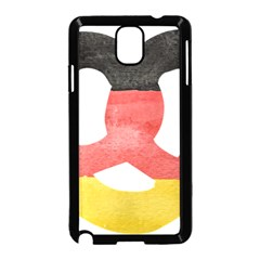 Pretzel in Hand-Painted Water Colors of German Flag Samsung Galaxy Note 3 Neo Hardshell Case (Black)