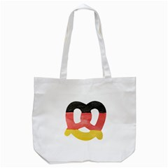 Pretzel in Hand-Painted Water Colors of German Flag Tote Bag (White)