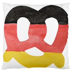 Pretzel in Hand-Painted Water Colors of German Flag Standard Flano Cushion Case (One Side)