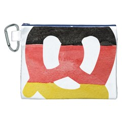 Pretzel in Hand-Painted Water Colors of German Flag Canvas Cosmetic Bag (XXL)