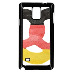 Pretzel in Hand-Painted Water Colors of German Flag Samsung Galaxy Note 4 Case (Black)