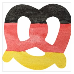 Pretzel in Hand-Painted Water Colors of German Flag Large Satin Scarf (Square)