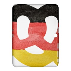 Pretzel in Hand-Painted Water Colors of German Flag Samsung Galaxy Tab 4 (10.1 ) Hardshell Case