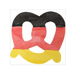 Pretzel in Hand-Painted Water Colors of German Flag Small Satin Scarf (Square)