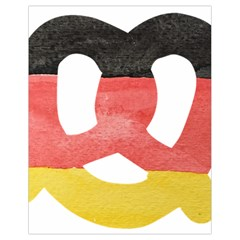 Pretzel in Hand-Painted Water Colors of German Flag Drawstring Bag (Small)