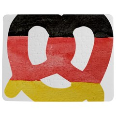 Pretzel in Hand-Painted Water Colors of German Flag Jigsaw Puzzle Photo Stand (Rectangular)