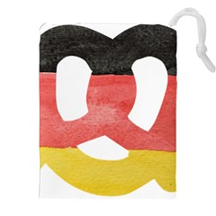 Pretzel in Hand-Painted Water Colors of German Flag Drawstring Pouches (XXL)