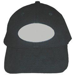 Grey and White simulated Carbon Fiber Black Cap