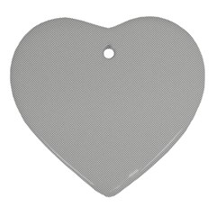 Grey and White simulated Carbon Fiber Ornament (Heart)