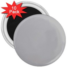 Grey and White simulated Carbon Fiber 3  Magnets (10 pack)