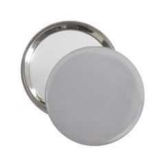 Grey and White simulated Carbon Fiber 2.25  Handbag Mirrors