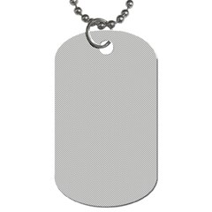Grey and White simulated Carbon Fiber Dog Tag (One Side)