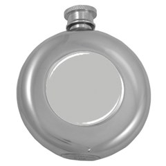 Grey and White simulated Carbon Fiber Round Hip Flask (5 oz)