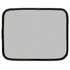 Grey and White simulated Carbon Fiber Netbook Case (Large)