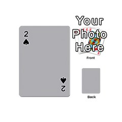 Grey and White simulated Carbon Fiber Playing Cards 54 (Mini)