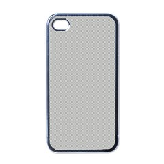 Grey and White simulated Carbon Fiber Apple iPhone 4 Case (Black)