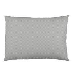 Grey And White Simulated Carbon Fiber Pillow Case (two Sides)