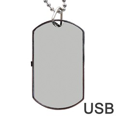 Grey and White simulated Carbon Fiber Dog Tag USB Flash (Two Sides)