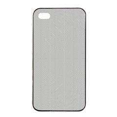 Grey and White simulated Carbon Fiber Apple iPhone 4/4s Seamless Case (Black)