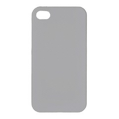 Grey and White simulated Carbon Fiber Apple iPhone 4/4S Hardshell Case