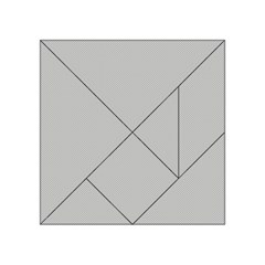 Grey and White simulated Carbon Fiber Acrylic Tangram Puzzle (4  x 4 )