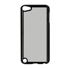 Grey and White simulated Carbon Fiber Apple iPod Touch 5 Case (Black)