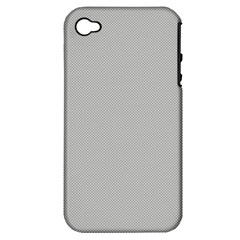 Grey and White simulated Carbon Fiber Apple iPhone 4/4S Hardshell Case (PC+Silicone)