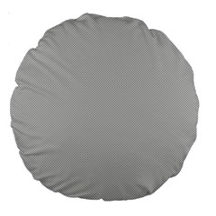 Grey and White simulated Carbon Fiber Large 18  Premium Round Cushions