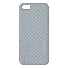 Grey and White simulated Carbon Fiber Apple iPhone 5 Premium Hardshell Case