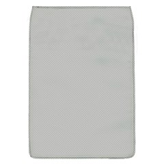 Grey and White simulated Carbon Fiber Flap Covers (L)